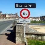 Crossing the bridge to Gien