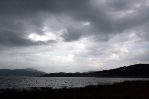 Cloudy and depressing Batak Lake