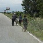 A scene form a Bulgarian road