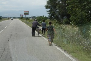 A scene form a Bulgarian road