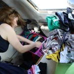 Reorganising our clothes