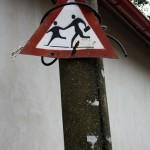 Road sign in Baia Mare