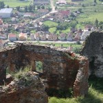 The view of Rupea from Rupea castle.