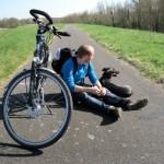 Happy to be on the bike path again