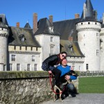 In front of the château in Sully-sur-Loire