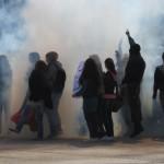 Protest on the main Cetinje square
