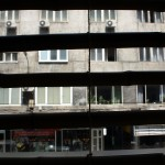 View from a vegetarian restaurant in Sofia.