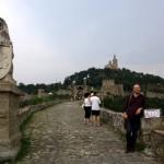 Veliko Tarnovo - Jay at the entrance to the fortress.