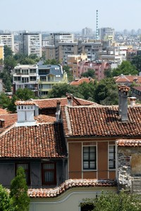 View of Plovdiv from the top of the hill