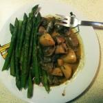 Asparagus with Mushroom and Potato