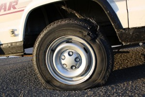 """""""Boom"""" went the tyre"""