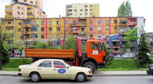 Colourful Buildings in Tirana