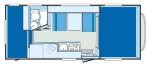 Weinsberg Orbiter 591 G floor plan