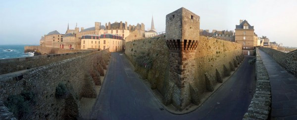 Looking back onto Intermuros in St. Malo
