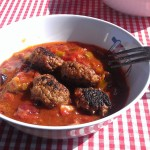 Paprika Ragout and Veggie Meatballs