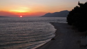 Sunset at Baška Voda