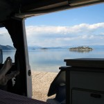 View from the Camper on Murići Beach