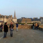Walking the walls in St. Malo