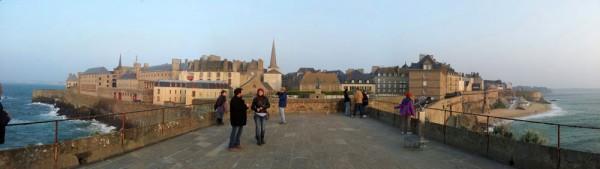 Walking the walls in St. Malo